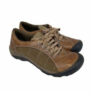 Keen Presidio Brown Leather Lace Up Sneakers 8.5